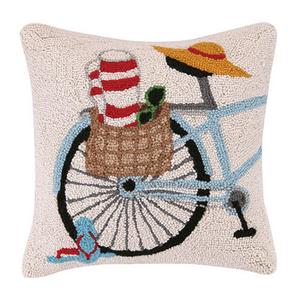 Summer Bike Hook Pillow