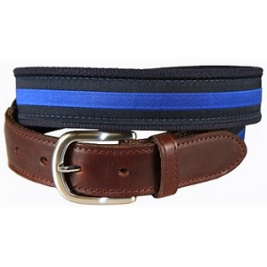Classic Blue Stripe On Navy Tab Belt