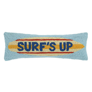 Surfs Up Surfboard Hook Pillow