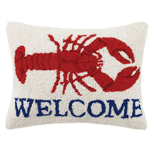 Welcome Lobster Hook Pillow