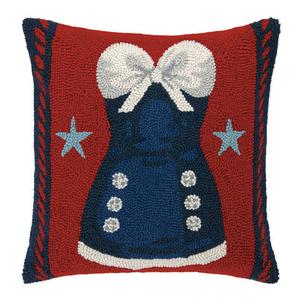 Blue Dress Hook Pillow