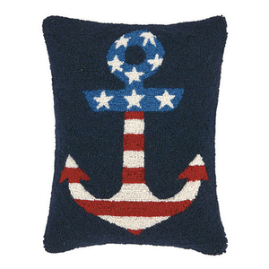 USA Flag Anchor Hook Pillow