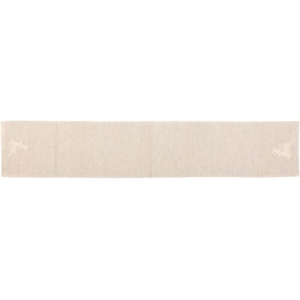 Creme Lace Deer Table Runner 13x72