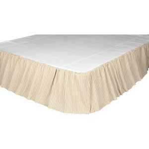 Joanna Ticking Stripe King Bed Skirt