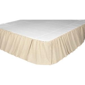 Joanna Ticking Stripe Queen Bed Skirt