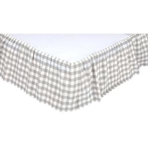 Annie Buffalo Grey Check King Bed Skirt