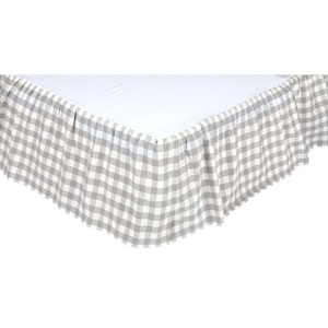 Annie Buffalo Grey Check Queen Bed Skirt
