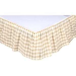 Annie Buffalo Tan Check Queen Bed Skirt