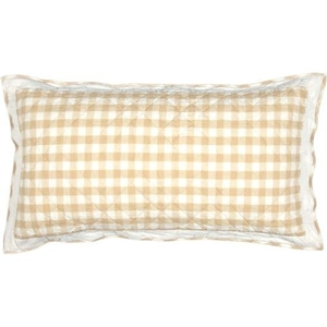 Annie Buffalo Tan Check King Sham 21x37