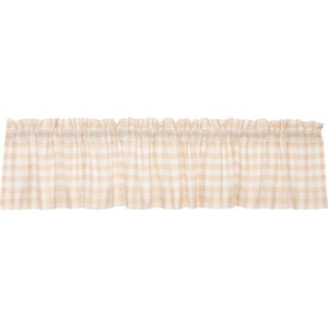 Annie Buffalo Tan Check Valance 16x90