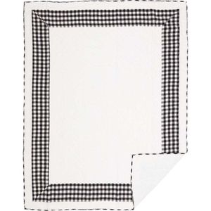 Annie Buffalo Black Check Twin Quilt 86x68