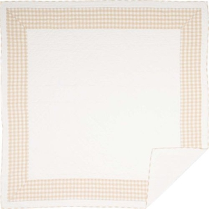 Annie Buffalo Tan Check Queen Quilt 90x90