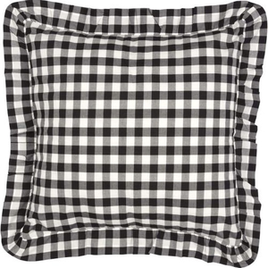 Annie Buffalo Black Check Fabric Euro Sham 26x26