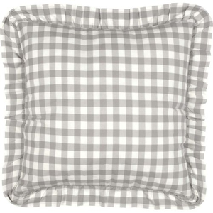 Annie Buffalo Grey Check Fabric Euro Sham 26x26