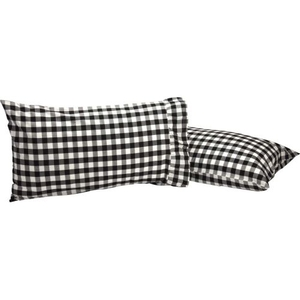 Annie Buffalo Black Check Standard Pillow Case Set of 2
