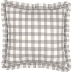 Annie Buffalo Grey Check Fabric Pillow 18x18