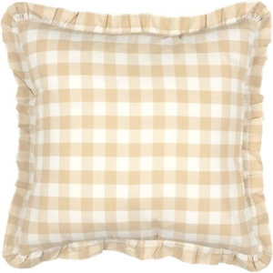 Annie Buffalo Tan Check Fabric Pillow 18x18