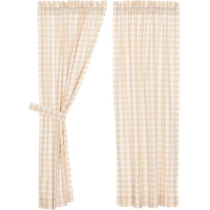 Annie Buffalo Tan Check Short Panel Set of 2 63x36