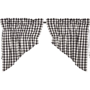 Annie Buffalo Black Check Prairie Swag Set of 2