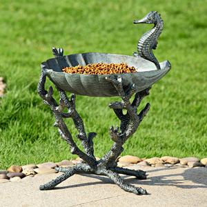 Seahorse Bird Bath/ Birdfeeder