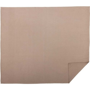 Serenity Tan King Cotton Woven Blanket 90x108