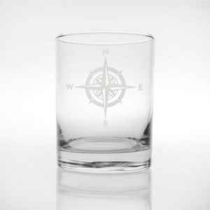 Compass Rose DOF Glasses, Set of 4