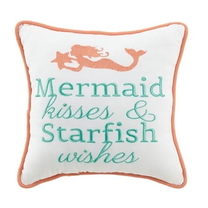 Mermaid Kisses and Starfish Wish Pillow