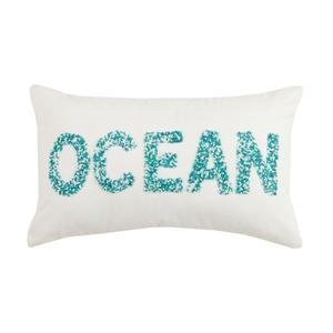 Ocean Beaded Pillow 12X20 in.