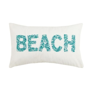 Beach Beaded Pillow 12X20 in.