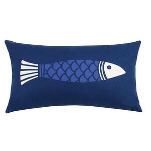 Colorfish Blue Print Outdoor Pillow