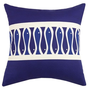 Fish Ribbon Print Pillow