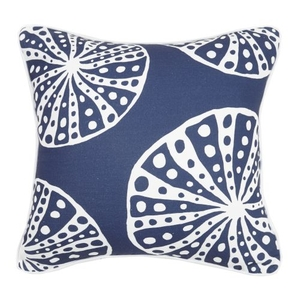Navy Urchin Print Pillow