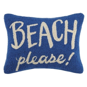 Beach Please Hook Pillow 14X18 in.