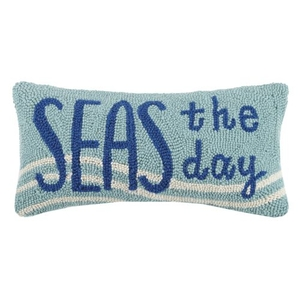 Seas The Day Hook Pillow 9X18 in.