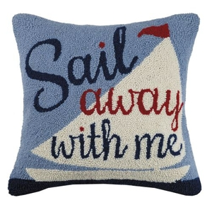 Sail Away With Me Hook Pillow 18X18 in.