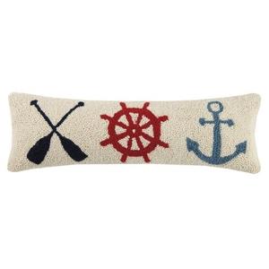 Oar Helm Anchor Hook Pillow 8X24 in.