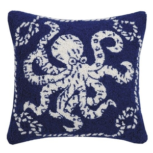 Octopus Nautical Hook Pillow 16X16 in.