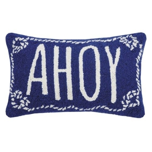 Ahoy Nautical Hook Pillow 12X18 in.