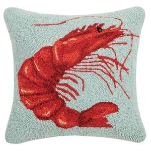 Shrimp Hook Pillow 16X16 in.