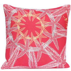 Starfish Suzani Pillow- Coral