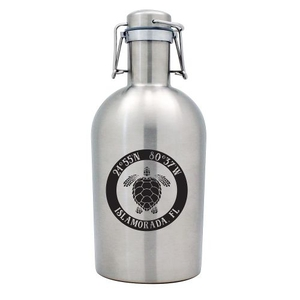 Custom Coordinates Sea Turtle Stainless Steel Beer Growler