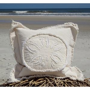 Sand Dollar Canvas Sea Pillow