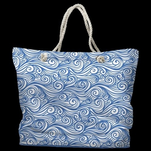 Dreamy Sea Tote Bag with Nautical Rope Handles