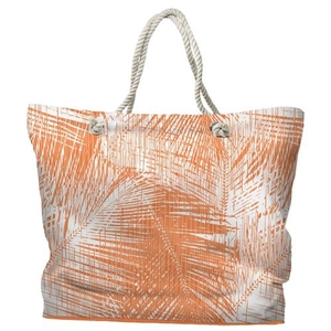 Boca Chica Palm Breeze Tote Bag with Nautical Rope Handles