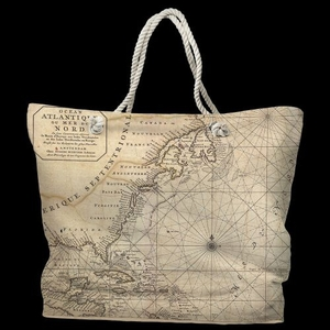 Old World Water-Repellent Nautical Chart Bag