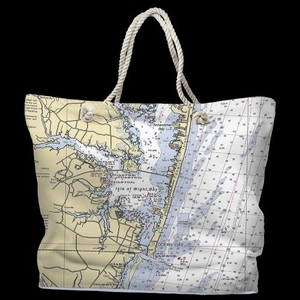 MD: Ocean City, MD Water-Repellent Nautical Chart Bag