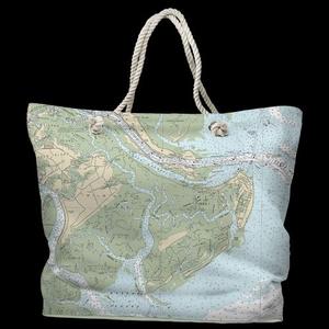 GA: Tybee Island, GA Water-Repellent Nautical Chart Bag
