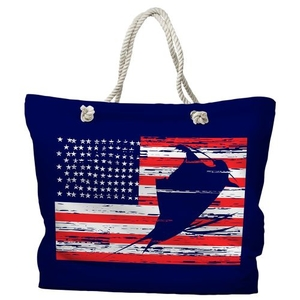 Sailfish Americana Nautical Tote Bag with Nautical Rope Handles