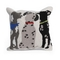"""Liora Manne Frontporch Three Dogs Indoor/Outdoor Pillow Multi 18"""" Square"""