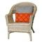 "Liora Manne Visions I Crochet Tile Indoor/Outdoor Pillow Orange 12""x20"""